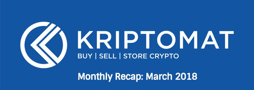 Monthly Recap: March 2018