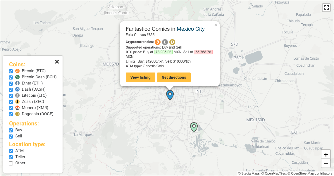Bitcoin ATM location