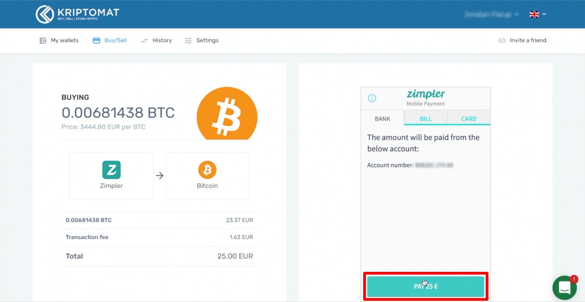 buy crypto with zimpler tutorial 5 1