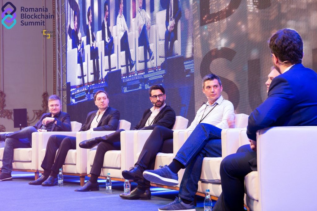 Dejan on the panel at the Romania Blockchain Summit 2019 (2)