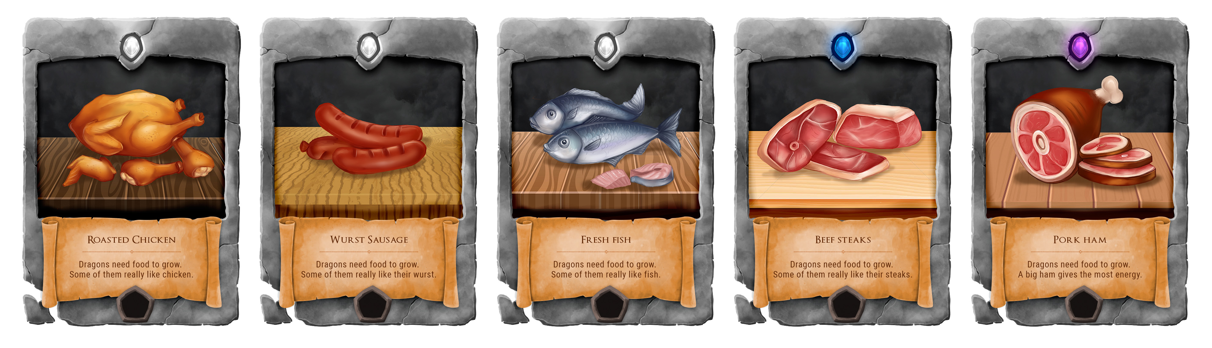 Card designs - Food (no background)
